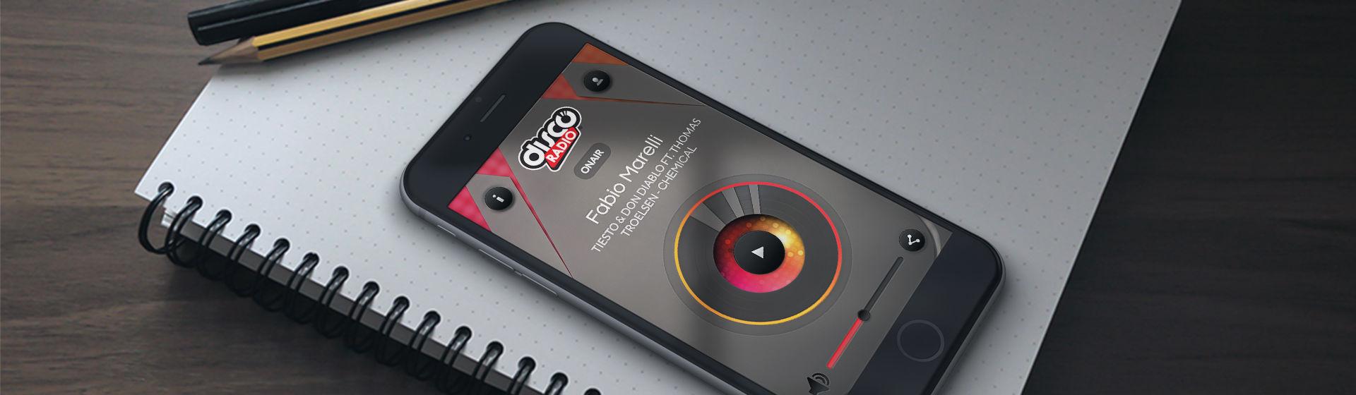 Visualizza il case study Discoradio app